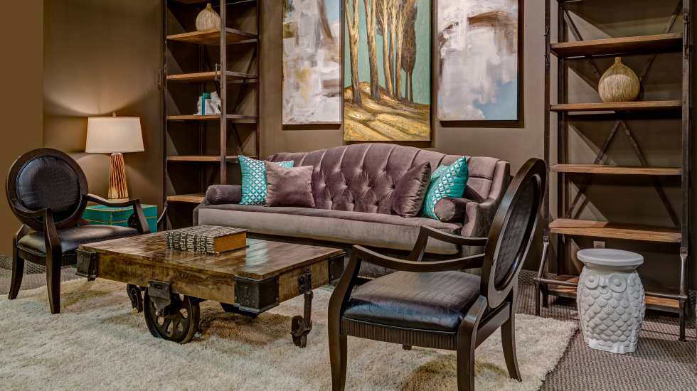 Industrial Eclectic Living Room