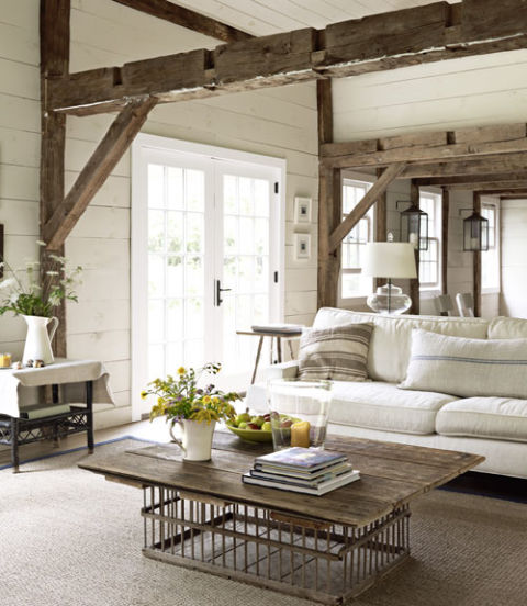 Country Chic-meets-Modern Interiors